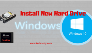 install new hard drive windows 10