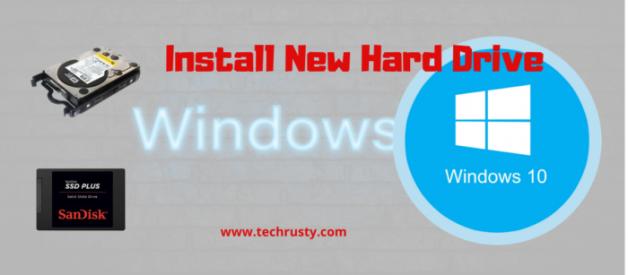 install new hard drive windows 10