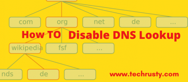 disable dns lookup