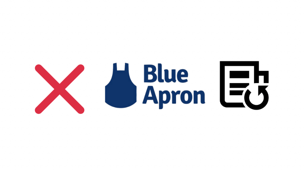 cancel blue -apron