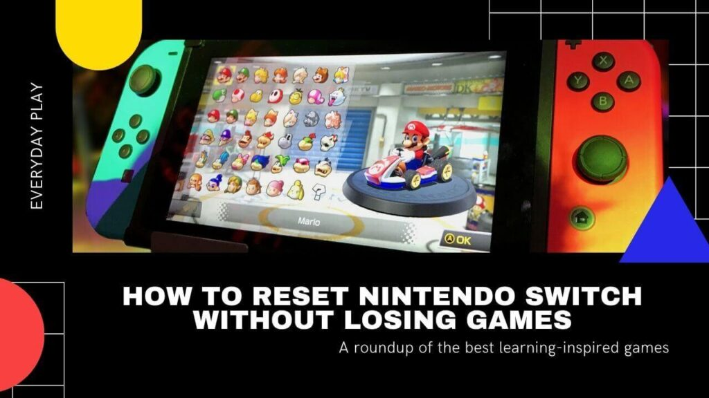 How To Reset Nintendo Switch Without Losing Games